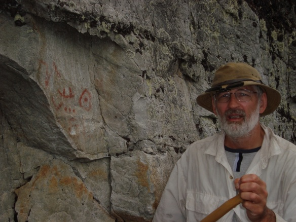 we're back down near Diamond Lake and have found the pictographs