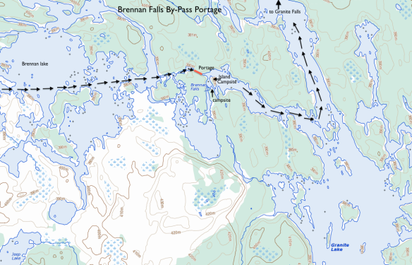 Brennan falls by-pass portage
