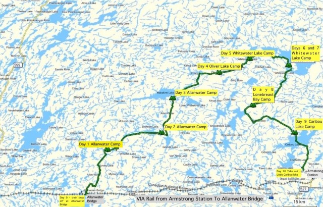 Wabakimi 2010 Map Overview