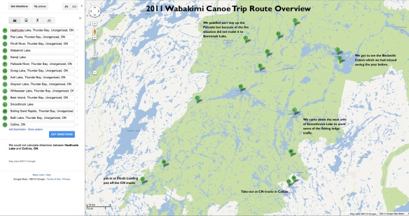 2011 Wabakimi Route Overview