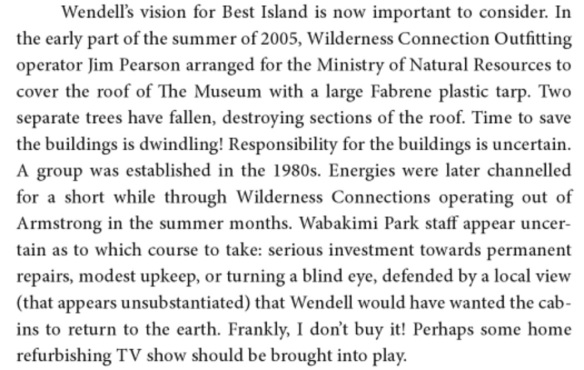 Bob Henderson on the Beckwith Cabins