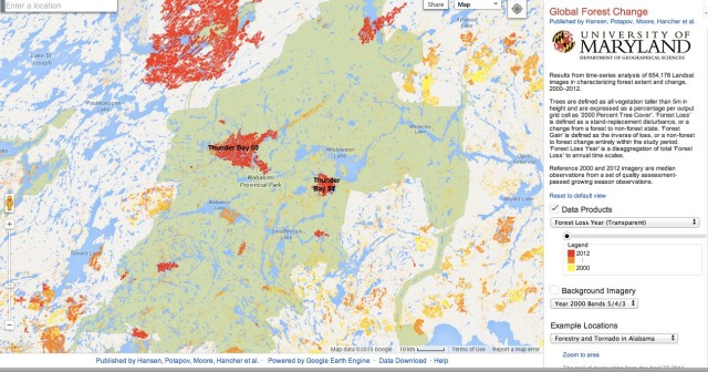 Wabakimi Fire Zones - 2012 back to 2000