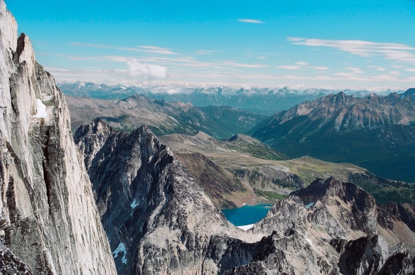 view from the top of Bugaboo Spire