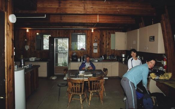 Bugaboos Kain Hut interior kitchen area