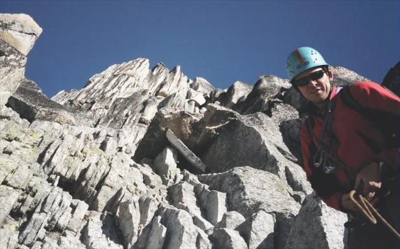 Jim watching as we climb on Bugaboo