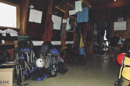 Kain Hut interior Bugaboos