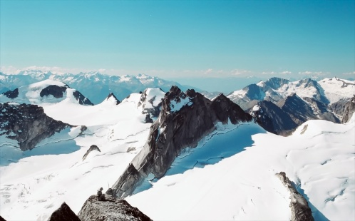 Pigeon Spire from Bugaboo Spire summit