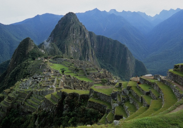 the view of Machu Picchu at the end of our descent from Intipunto, the Gateway of the Sun, which sits high above the site