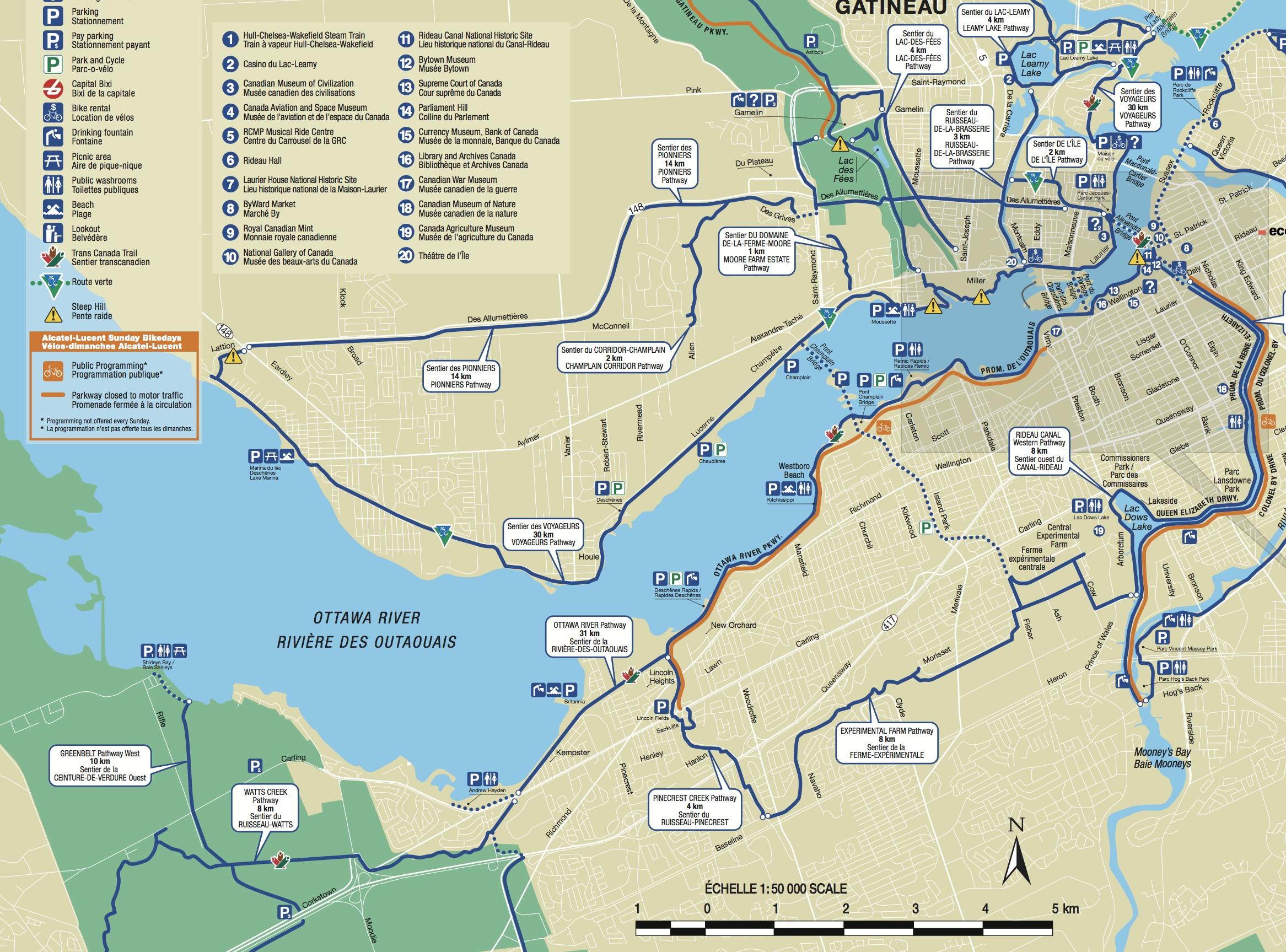 Eastern Ontario Bicycle Tour Plan Toronto to Ottawa via the Side