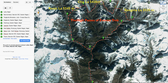 High Passes of Everest trek overview