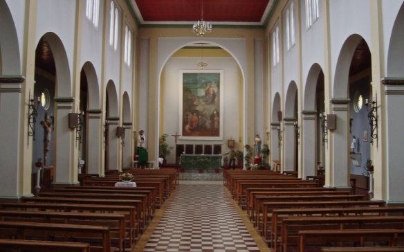 the interior of Puerto Natales' Iglesia Parroquial