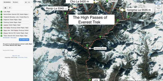 Three Passes Trek Overview