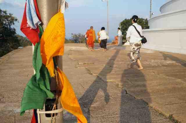 Tibetan prayer flags at Mihintale near Anuradhapura in Sri Lanka