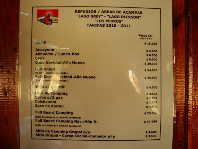 Refugio Dickson price list- note that it is for 2010-2011
