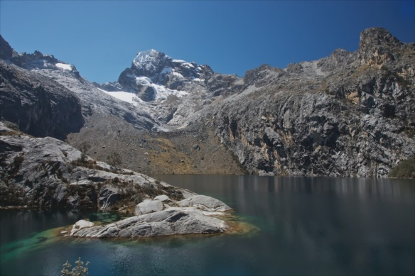 Laguna Churup view on our acclimatization hike