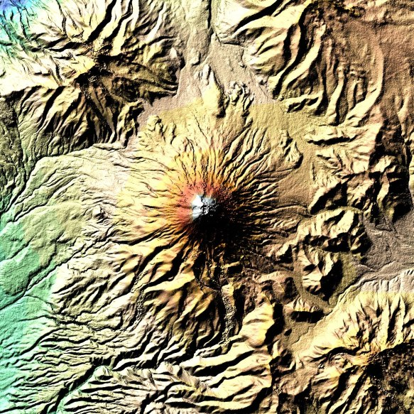 a NASA shot of Cotopaxi from the year 2000