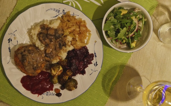 Laila's vegan take on an eastern European dinner- totally delectable!