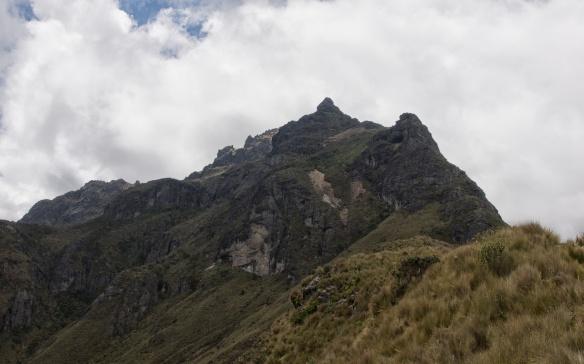 Rucu Pichinca summit- a scramble approach from the right