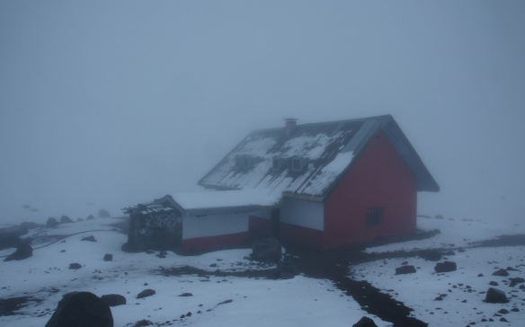 The Whymper Hut at 6:30 p.m.= shortly before bed time