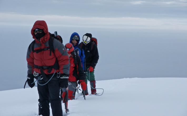 approaching Chimborazo summit after almost seven hours