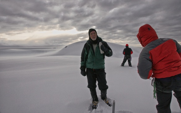 on top of Chimborazo at 6:45 a.m.