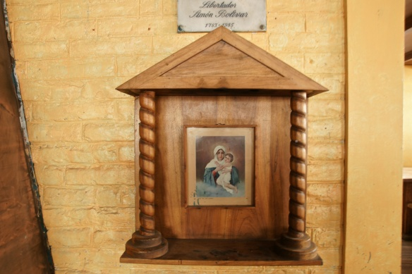 Refugio Whymper shrine- not sure if that is a bambino Jesus or Simon in the madonna's arms