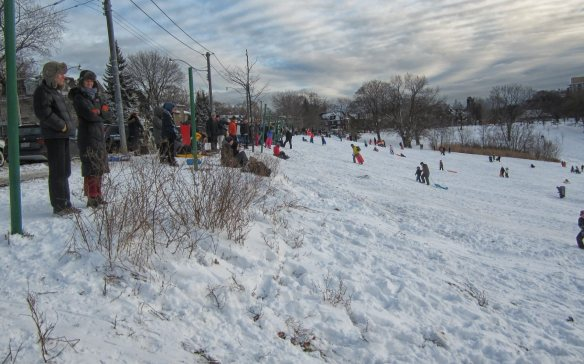 the big hill off Broadview is definitely busier than in the morning