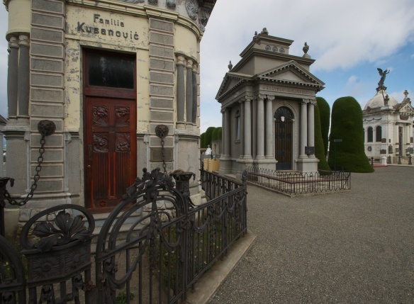 grand mausoleums in Punta Arenas' Cemetery- note the Serbo-Croatian names