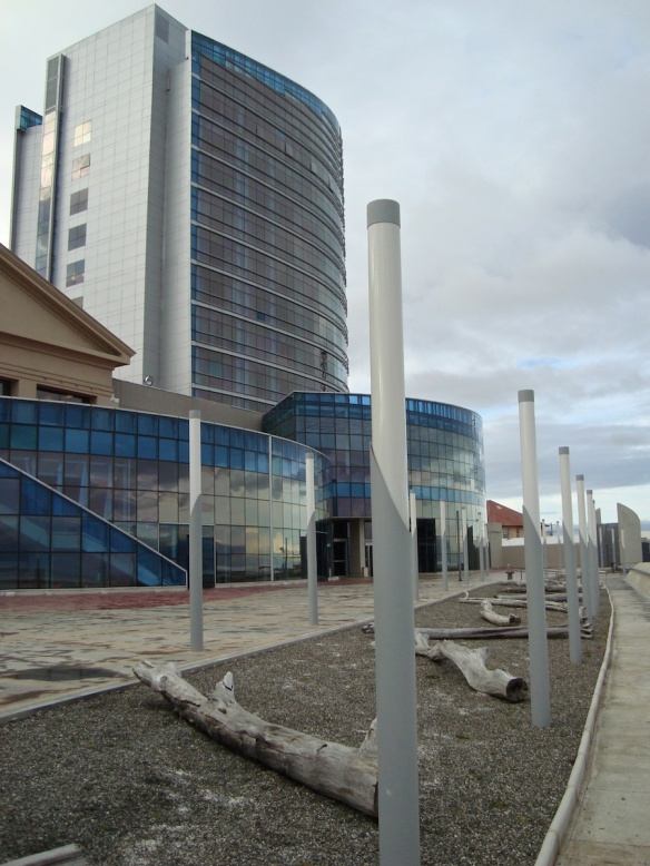 a view of Dreams Hotel/Casino/Convention Center/Spa from the waterfront path