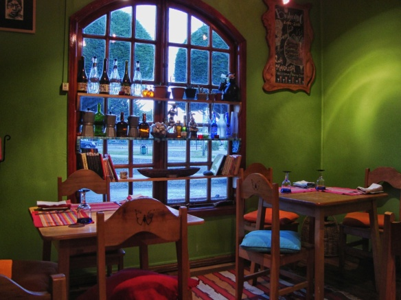 cosy corner of La marmita Restuarant in Punta Arenas