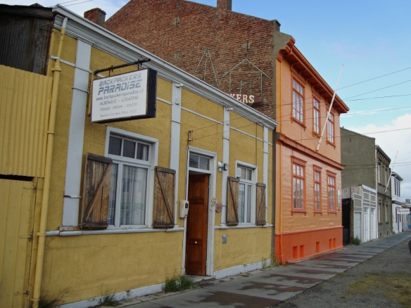 colourful house fronts in Punta Arenas