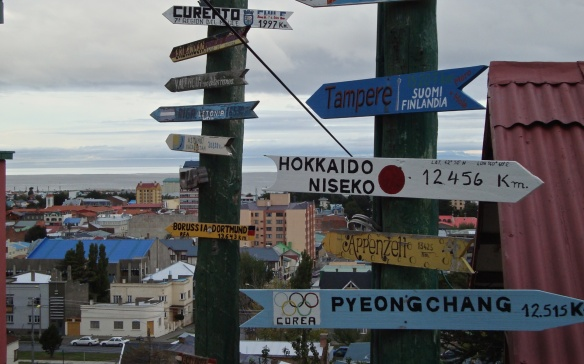 another collection of Punta Arenas markers - paid for by visitors to the restaurant nearby