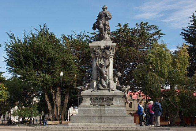 central square in Punta Arenas- statue of Columbus (Colon in Spanish)