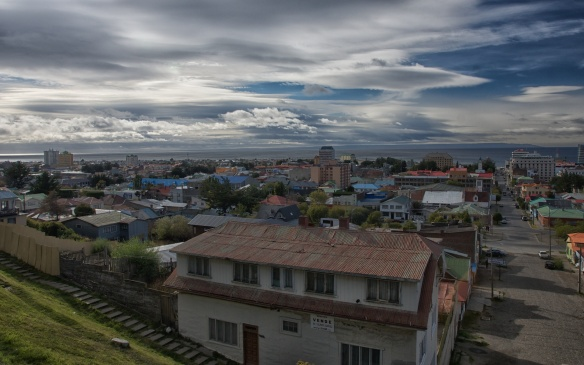 a view of Punta Arenas from the mirador
