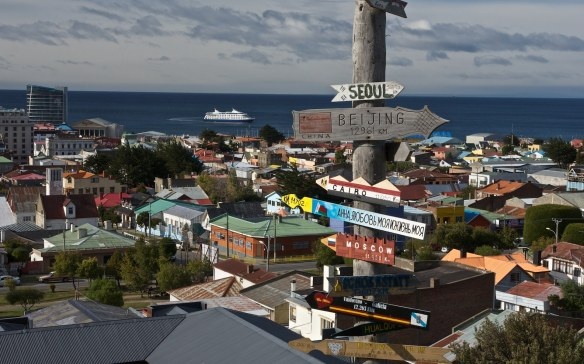 Punta Arenas View - distance markers from