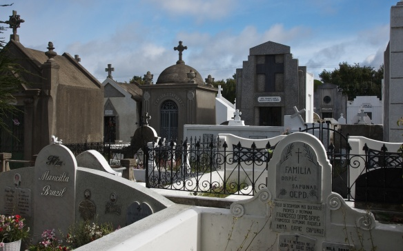 a view inside the Punta Arenas Cemetery