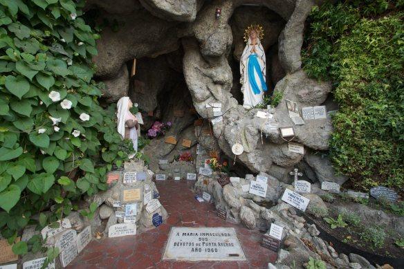 nieghbourhood shrine to the Virgin on a Punta Arenas side street