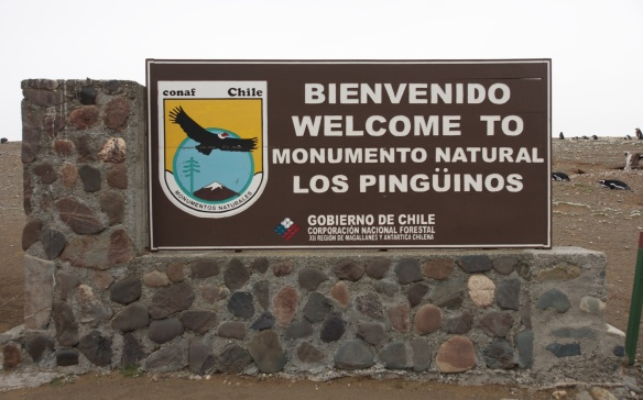 sign at entrance of the penguin preserve