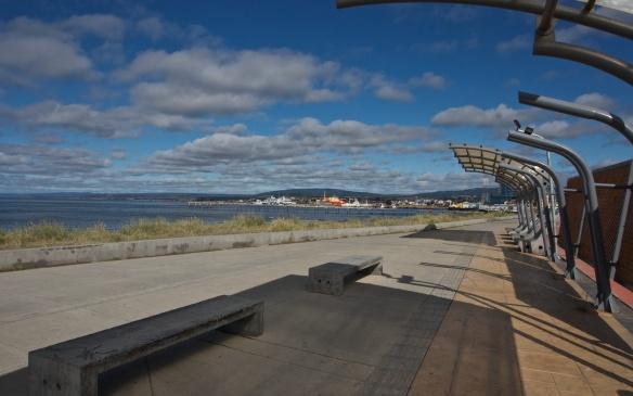 Punta Arenas waterfront looking west