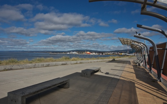 Punta Arenas waterfront looking west