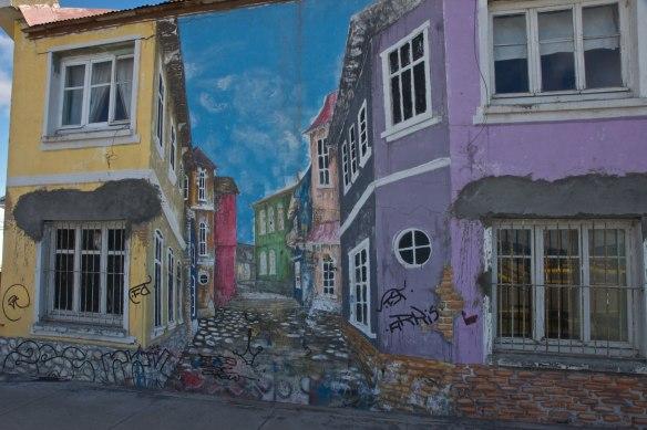 a clever trompe d'oeil in Punta Arenas