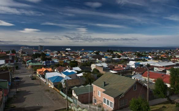 Looking down Calle Pantano from the Mirador in Punta Arenas