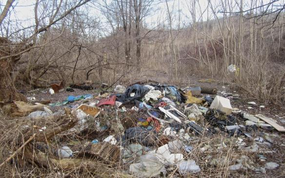 major mound of garbage left by Don valley campers