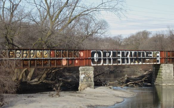 more graffiti on the Lower Don- clearly visible from the Don Valley Pkwy