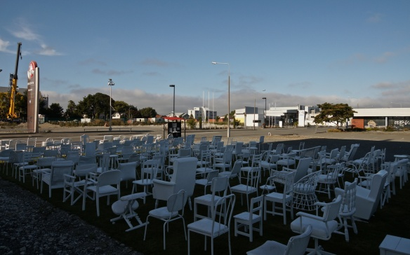 185 Empty Chairs- Christchurch- a tribute to those who lost their lives in the Feb. 2011 quake