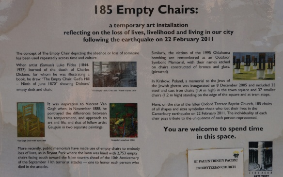 185 Empty Chairs info panel