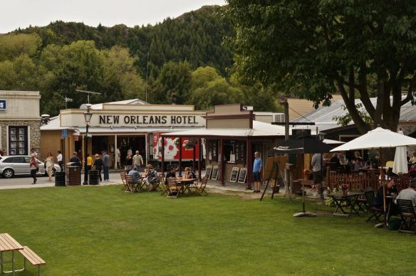 Buckingham Green in Arrowtown - the view from my picnic table