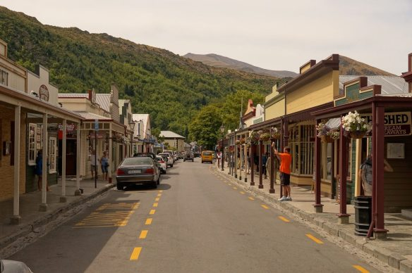 quaint Buckingham Street in Arrowtown - a real tourist draw