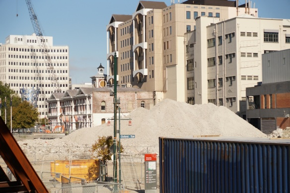 buildings within the Red Zone in Christchurch