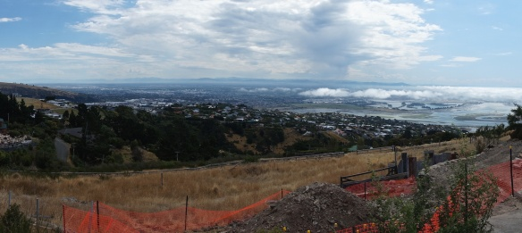 Christchurch in the distance from Mount Pleasant Road